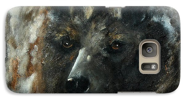Galaxy Case featuring the painting Bjomolf - Bear Wolf by Barbie Batson