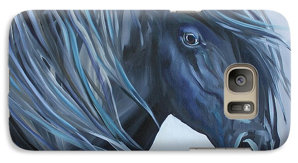 Galaxy Case featuring the painting Black Abstract by Debbie Hart