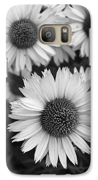 Galaxy Case featuring the photograph Black And White Echinacea -  by Brooke T Ryan