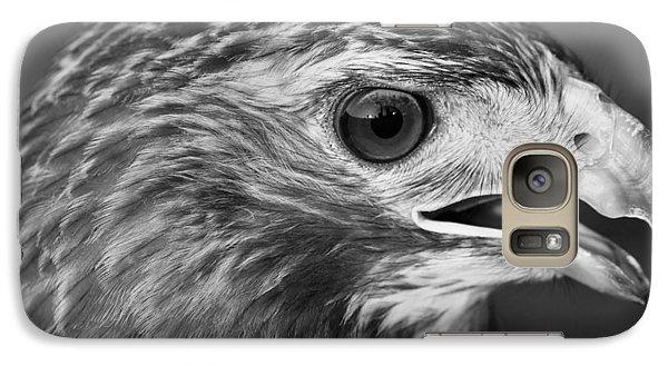 Black And White Hawk Portrait Galaxy S7 Case by Dan Sproul
