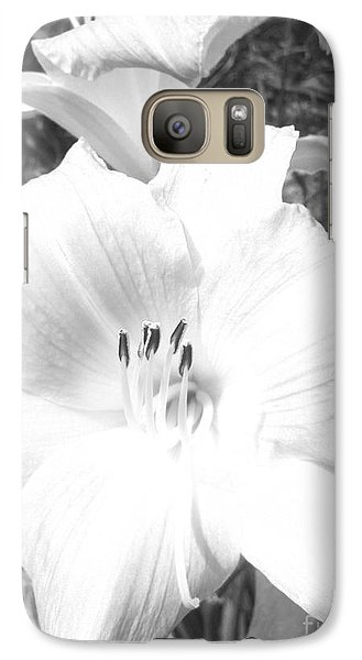Galaxy Case featuring the photograph Black And White Hibiscus  By Saribelle Rodriguez by Saribelle Rodriguez