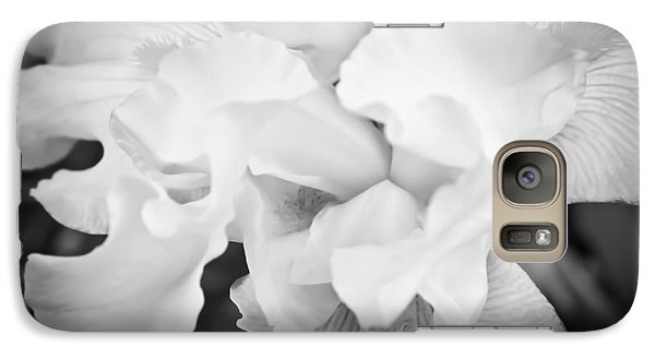 Galaxy Case featuring the photograph Black And White Hibiscus by Kara  Stewart