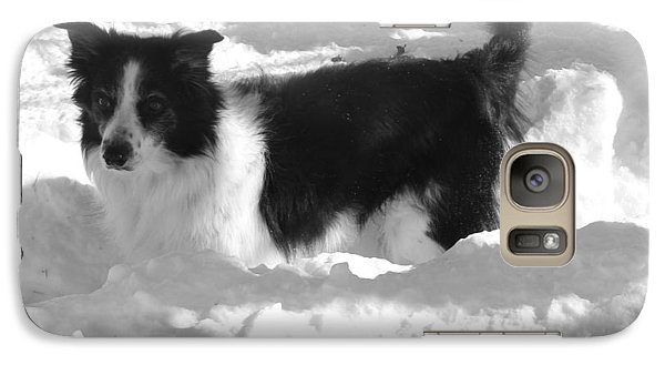 Galaxy Case featuring the photograph Black And White In The Snow by Michael Porchik