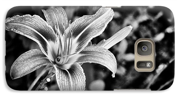 Galaxy Case featuring the photograph Black And White Lily by Bradley Clay