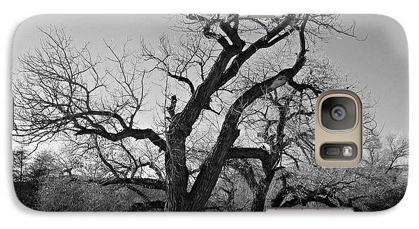 Galaxy Case featuring the photograph Black And White Oak by Janice Westerberg