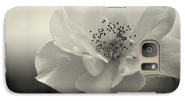 Galaxy Case featuring the photograph Black And White Rose by Amee Cave
