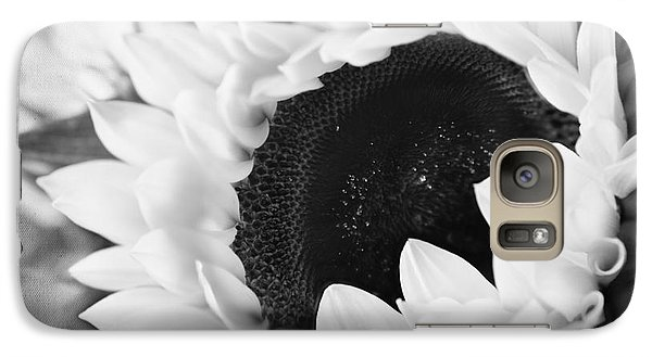 Galaxy Case featuring the photograph Black And White Sunflower by Eden Baed