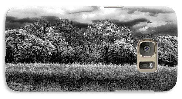 Galaxy Case featuring the photograph Black And White Trees by Darryl Dalton