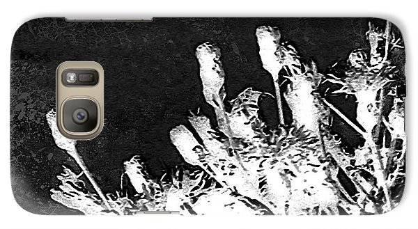 Galaxy Case featuring the photograph Black And White Wildflower by Shawna Rowe