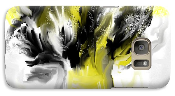 Galaxy Case featuring the painting Black And Yellow Flower Bouquet by Jessica Wright