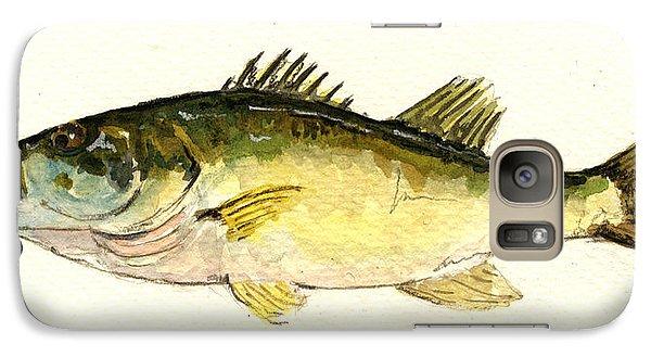 Smallmouth Bass Galaxy S7 Case - Black Bass Fish by Juan  Bosco