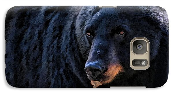 Galaxy Case featuring the photograph Black Bear by Clare VanderVeen