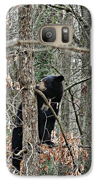 Galaxy Case featuring the photograph Black Bear Cub by William Tanneberger