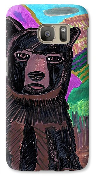 Galaxy Case featuring the drawing Black Bear by Don Koester
