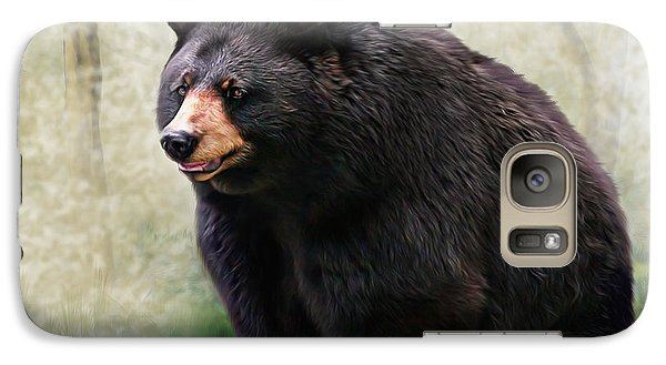 Galaxy Case featuring the painting Black Bear by Mary Almond