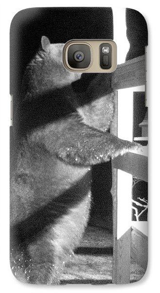 Galaxy Case featuring the photograph Black Bear by Mim White
