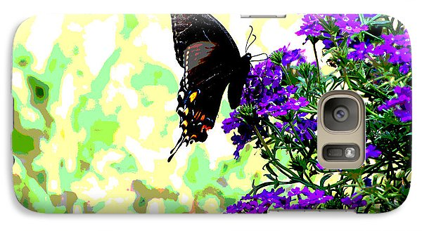 Galaxy Case featuring the photograph Black Beauty by Linda Cox