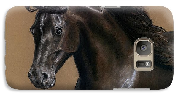 Galaxy Case featuring the painting Black Beauty by Sheri Gordon