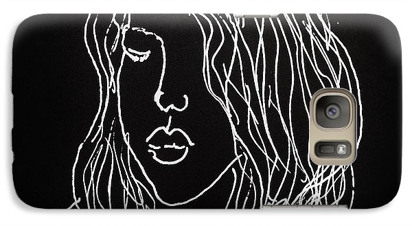 Galaxy Case featuring the drawing Black Book 07 by Rand Swift