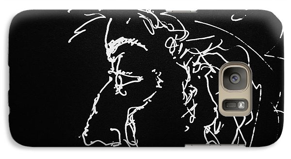 Galaxy Case featuring the drawing Black Book 10 by Rand Swift
