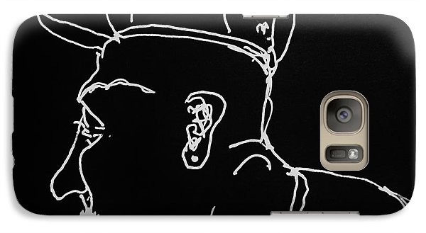 Galaxy Case featuring the drawing Black Book 19 by Rand Swift
