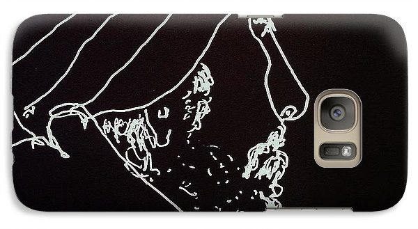 Galaxy Case featuring the painting Black Book Series 03 by Rand Swift