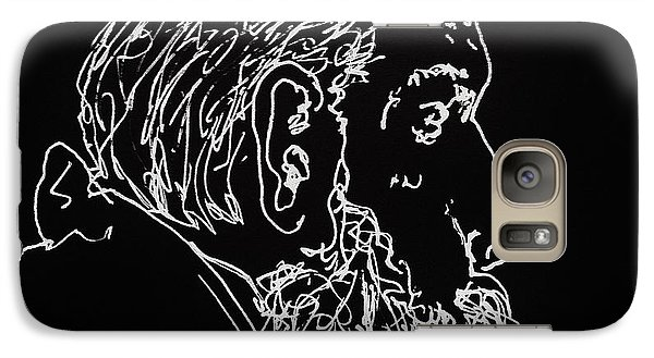 Galaxy Case featuring the drawing Black Book Series 05 by Rand Swift