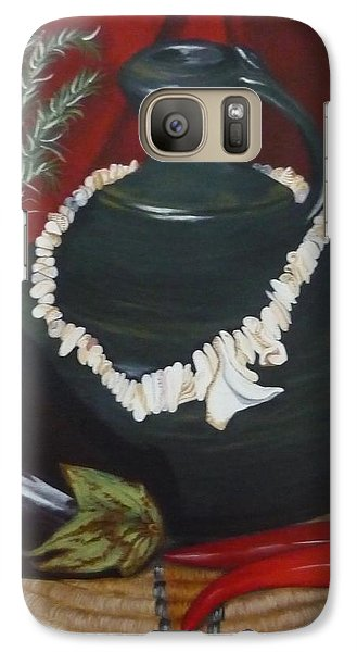Galaxy Case featuring the painting Black Bottle by Helen Syron