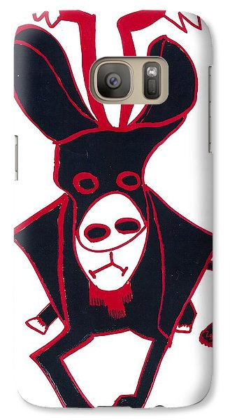 Galaxy Case featuring the drawing Black Bull by Don Koester