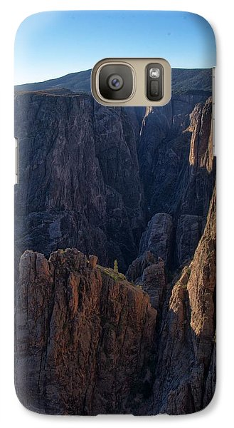 Galaxy Case featuring the photograph Black Canyon Into The Deep Hdr by Eric Rundle