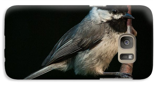 Galaxy Case featuring the photograph Black-capped Chickadee by Jim Moore