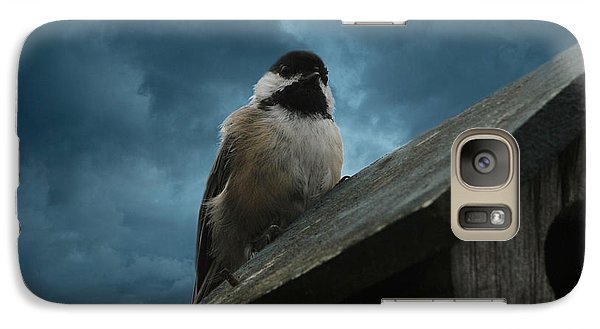 Galaxy Case featuring the photograph Black-capped Chickadee  by Marjorie Imbeau