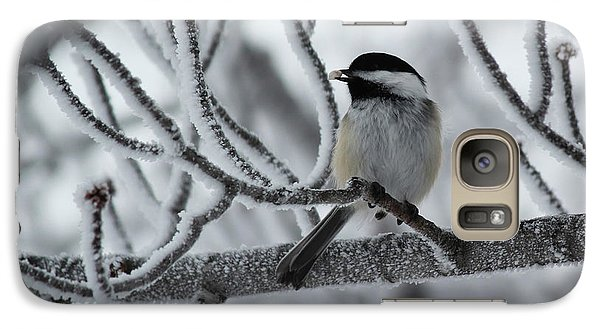 Galaxy Case featuring the photograph Black-capped Chickadee by Ryan Crouse