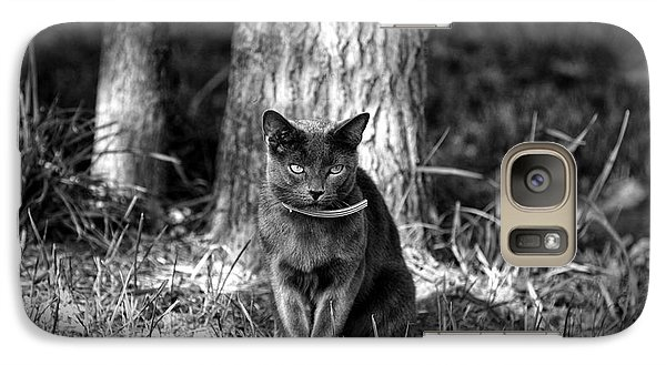 Galaxy Case featuring the photograph Black Cat by Jerome Lynch