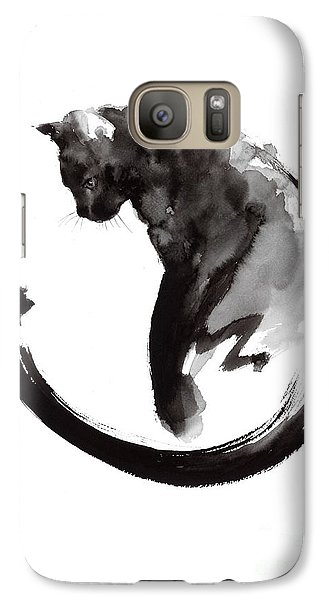 Black Cat Galaxy S7 Case