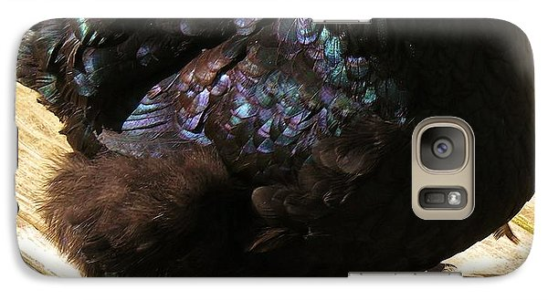 Galaxy Case featuring the photograph Black Cochin by Sherman Perry