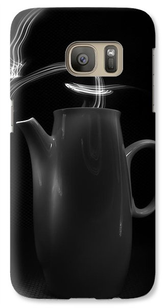 Galaxy Case featuring the photograph Black Coffee Pot - Light Painting by Steven Milner