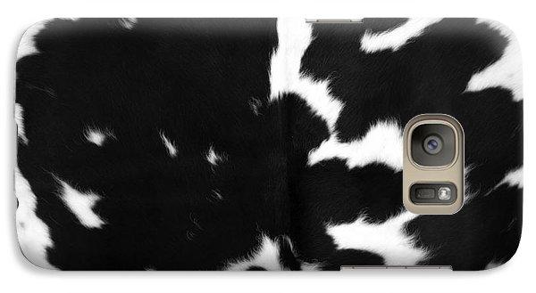 Galaxy Case featuring the photograph Black Cowhide by Gunter Nezhoda