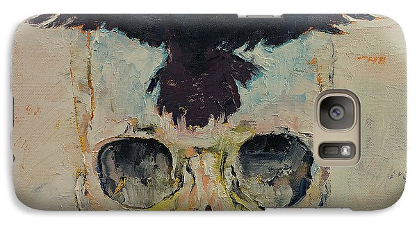 Black Crow Galaxy S7 Case by Michael Creese