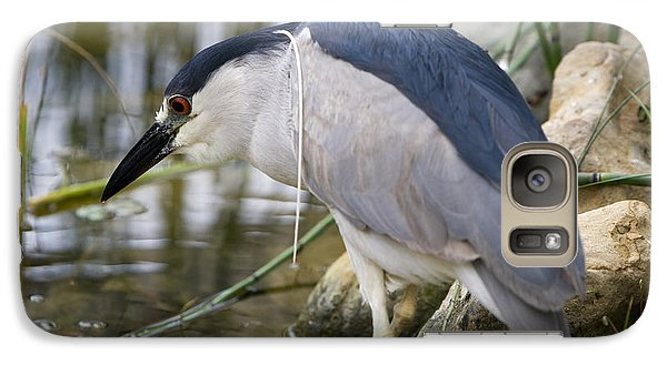 Galaxy Case featuring the photograph Black-crown Heron Going Fishing by David Millenheft