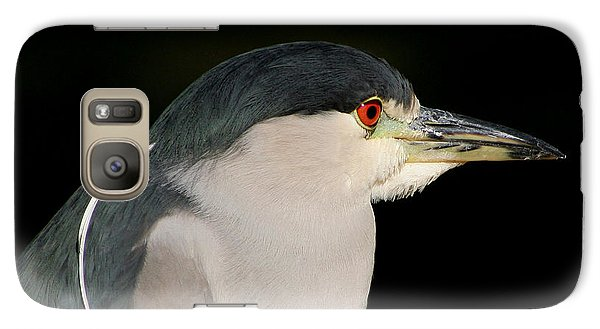 Galaxy Case featuring the photograph Black-crowned Night Heron by Bob and Jan Shriner