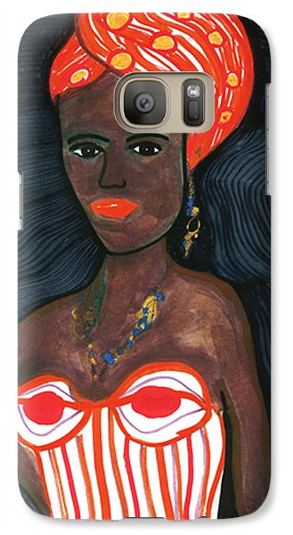 Galaxy Case featuring the drawing Black Diva by Don Koester