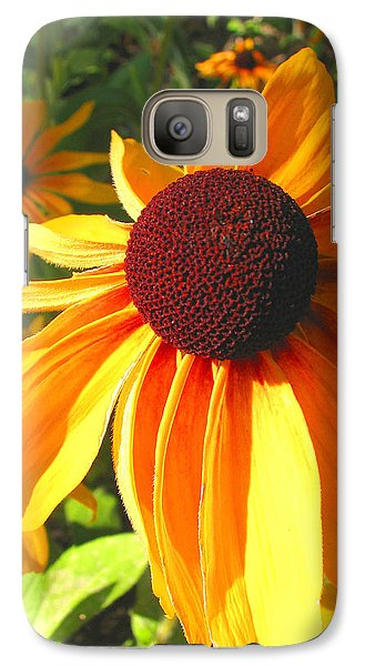 Galaxy Case featuring the photograph Black-eyed Susan In Your Face by Brooks Garten Hauschild