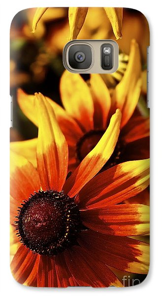 Galaxy Case featuring the photograph Black Eyed Susan by Linda Bianic