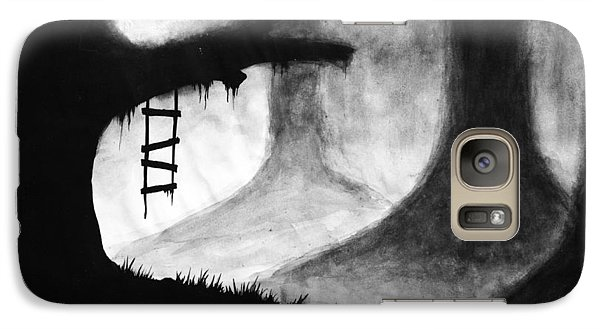 Galaxy Case featuring the painting Black Forest by Salman Ravish