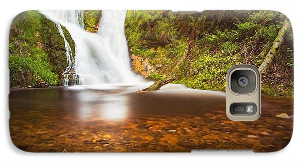 Galaxy Case featuring the photograph Black Forrest Waterfall by Maciej Markiewicz