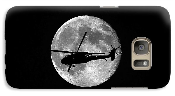 Helicopter Galaxy S7 Case - Black Hawk Moon by Al Powell Photography USA