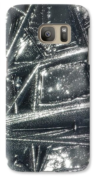 Galaxy Case featuring the photograph Black Ice by Jane Ford