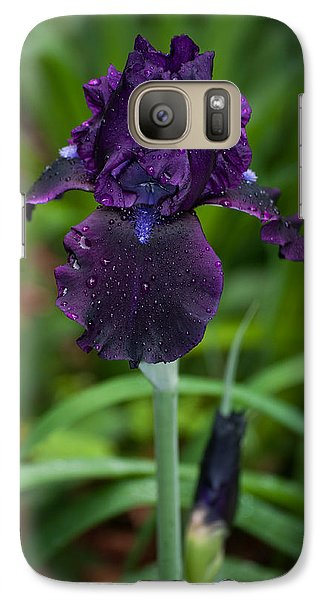 Galaxy Case featuring the photograph Black Iris by Penny Lisowski