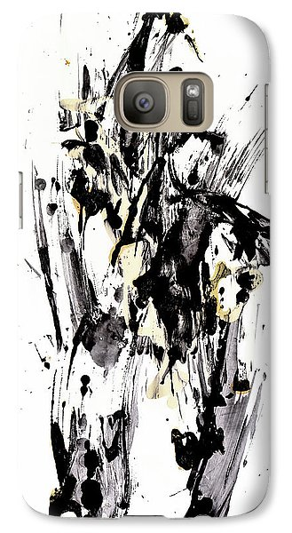 Galaxy Case featuring the painting Black Is Not White White Is Not Black by Kris Haas